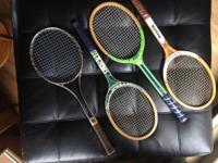 Wilson wood racket 41/4 grip, made in U.S.A. Wilson