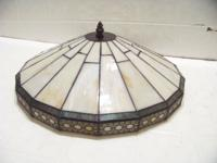 Nice glass Tiffany style lamp shade with screw. This