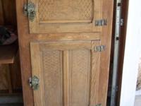 I have an antique timber ice box for sale. It