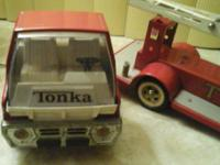 Vintage Tonka Pressed Steel Toy Fire Truck TFD Aerial