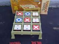 VINTAGE TOSS ACROSS GAME WITH ORIGINAL BOX AND 8