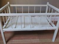 For sale Vintage toy baby doll crib bed, has been