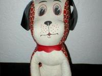 Do you remember these? This vintage red and white dog