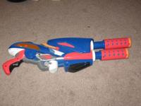 This is a vintage Toy Quest Twin Barrel Blaster water