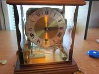 Vintage Tradition key wind triple chime mantle clock.