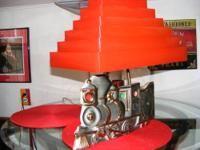 Le Mein C. Miller Train Lamp & CLock 1958 No Chips or
