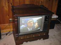This late 70's GE TV works just fine. The cabinet is