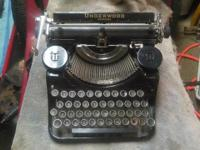Have a nice Underwood portable typewriter from 1935 I