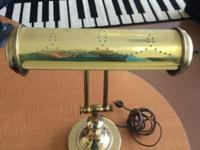 A Vintage Brass Piano Lamp. Unknown manufacturer but