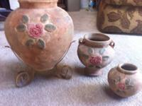 Vintage Vases made in Philippines Material: Terracotta