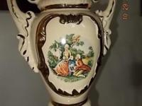 Beautiful Porcelain Urn table lamp with gold gilt and