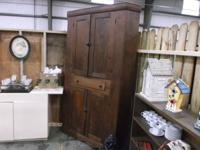 Antique Walnut Curio Closet.     Come view this product