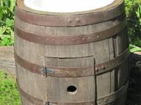 Here we have a whiskey barrel with the top cut out to