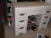 Shabby chic style vintage white desk. Could also be