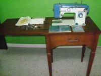 OLDER MODEL WHITE SEWING MACHINE MODEL 167 STILL WORKS