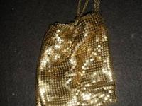 This Whiting & Davis Shimmering Gold Mesh Evening Party