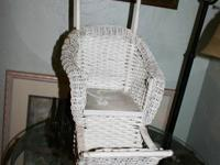 1930's - 1940's For the age of the wicker it is in an