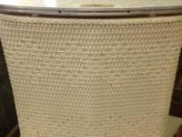 Vintage Wicker Hamper. In wonderful problem. White in