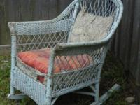 This is a wonderful, old  vintage wicker