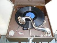 This 1930s Watch Tower Record Player spins 10inch, 78