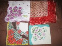 The pictured handkerchiefs are just a sample of the