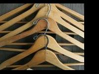 Collection of Vintage Wood Clothes hangers