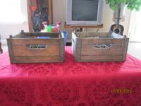 We have a set of (2) stackable old 1950's Vintage