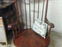 Vintage wood eagle rocker. Wonderful shape, rocks well.