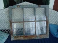 For sale is a 6-pane,1925 wood, awning home window from