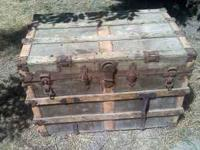 Great vintage wooden chest. Large and just $50. You'll