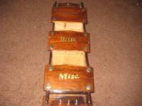 Description ***USED*** vintage wooden mail, letter and