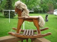Beautiful Vintage Wooden Rocking Horse in terrific