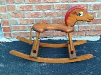 Handmade Wood Vintage Rocking Horse Nice condition Only