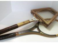 Vintage Wooden Tennis Racquets  We have a collection of