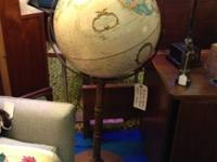 Vintage World Globe on Stand. $95. Mid Century Atomic
