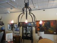 Vintage Wrought Iron Chandelier $800       8 light