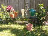 Vintage Wrought Iron Table - - Great For Garden, Patio