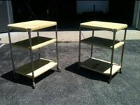 Vintage yellow rolling kitchen cart. I have two to