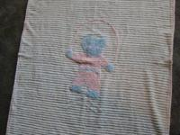 Classic Youth blanket soft cuddly bear jumping a rope.