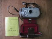 Vintage Zeiss Ikon Movikon 8 Movie Camera with booklet,