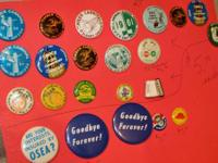 Vintage collectible 50's & 60's buttons.  Most $5 each.