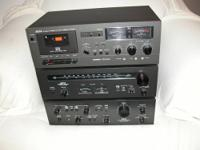 1. AKAI AM-2400, 100 watt Stereo Amplifier, Black Panel