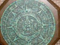This vintage Aztec wall plaque is from the 1960-1970s