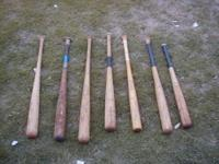 7 older bats including, Louisville sluggers. One Roger