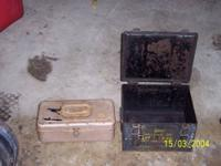 Vintage Blue Metal Military Ammo Boxes $21 Each Vintage