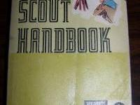 Selling my boy scout handbook. Copyright 1975 stored