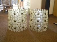 beautiful capriz shell lamp shades. Perfect for that