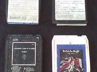 Description Collection of four 8 track tapes from the