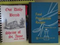 WE HAVE SOME VERY NICE AND UNIQUE VINTAGE COOKBOOKS.