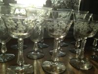 Offering a never used vintage stemware set from 1937.